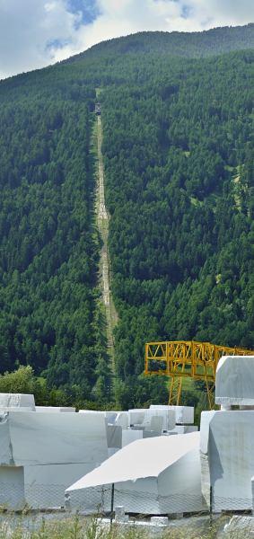 Der Schärgaufzug der Laaser Marmorbahn