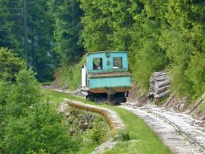 Die Lokomotive auf der Bergstrecke