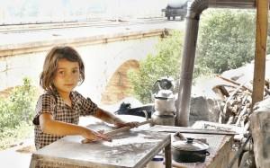 In den Schulferien hilft auch der Nachwuchs bei der Verpflegung der Touristen