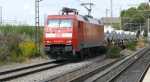 Tübbing Zug im Güterbahnhof Untertürkheim