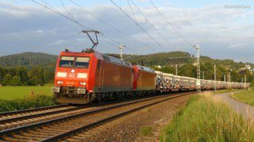 Tübbing Zug bei Plüderhausen auf der Remsbahn