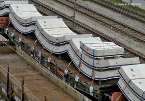 Sieben Tübbinge, also ein beladener Güterwagen bilden einen kompletten Kreis. Schön zu erkennen: der kleinere Schlussstein.