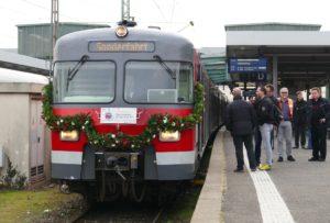 Abschiedszug S-Bahn Stuttgart Baureihe ET420