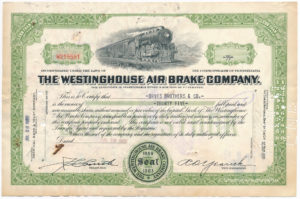 1950 Share Westinghouse Airbrake Company aktie