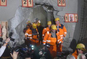 Am 19. Dezember 2016 wurde der Durchschlag der ersten Röhre des Cannstatter Tunnel gefeiert - Der erste Tunnel hat den Stuttgarter Talkessel erreicht.