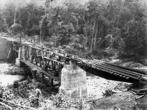 Brückenbau Schienen Nordbahn