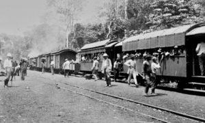 Abfahrbereiter Zug der Nordbahn um 1910