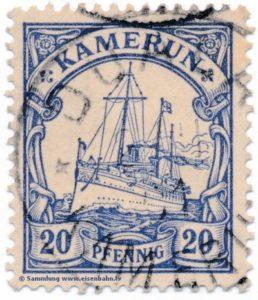 Briefmarke Deutsche Auslandspost Kamerun