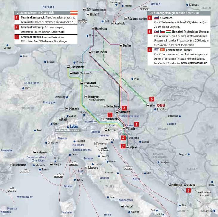 2007 Autozug Verbindungen Österreich Kroatien