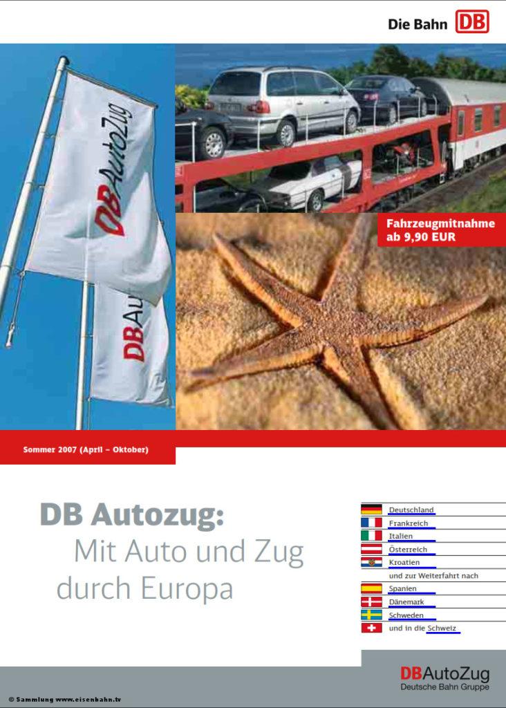 Autozug Flyer Sommer 2007
