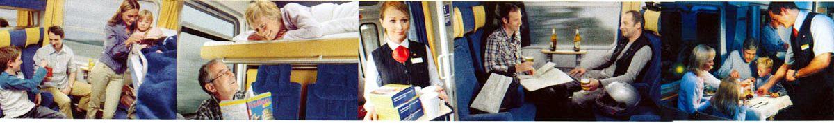 Mit dieser Bilderleiste wurde das Angebot von DB Autozug beworben.