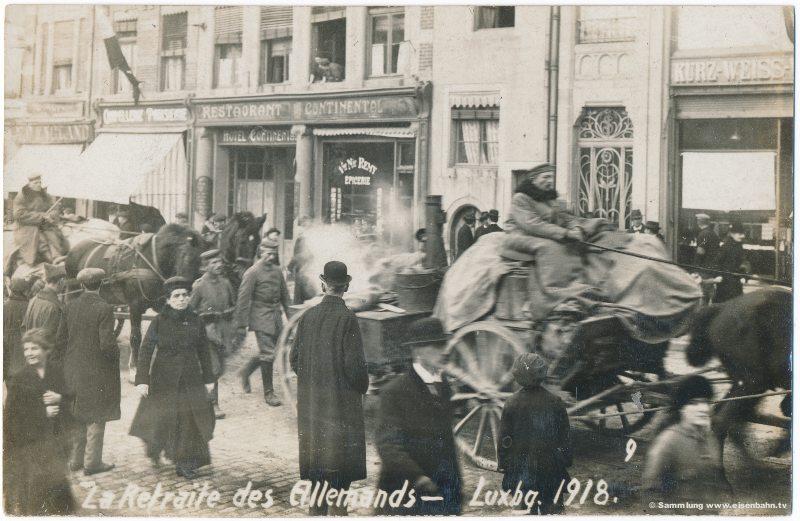 Rückzu der Deutschen Amree - Deutsche Verlassen Luxemburg