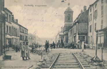 Montmédy Umgehungsbahn des Tunnels mitten im Ort in der Kronprinzenstraße.